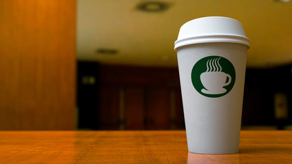 Paper Coffee Cup In Office