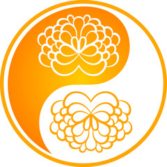 Decorative floral symbol