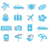 Fototapety tourism icons Vector
