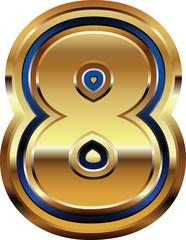 Golden Font Number 8