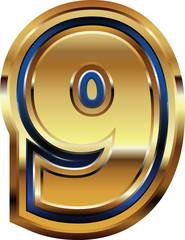 Golden Font Number 9