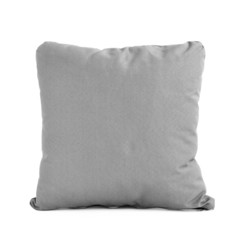 Square cushion or pillow isolated on white background