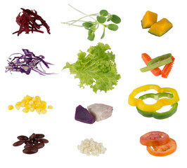 Set of salad vegetable