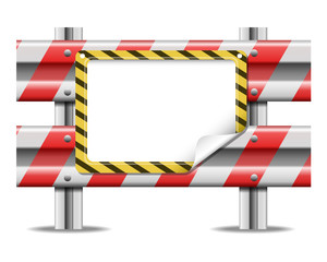 Barrier with frame