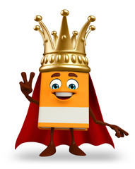 super Book Character with crown