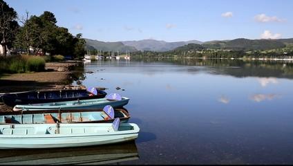 Pleasure boats Ullswater The lakes England UK