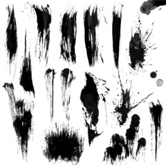 Brushes Stroke Greyscale volume set 02