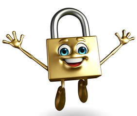 Lock Character with happy pose