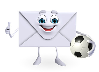 Mail Character with football