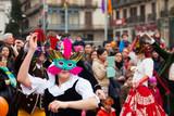 Dancing people at Carnival Balls