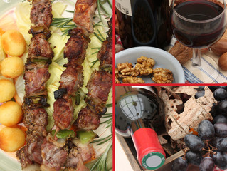 Barbecue - Brochettes - Vin Rouge