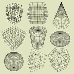 Geometry Wireframe ,3d