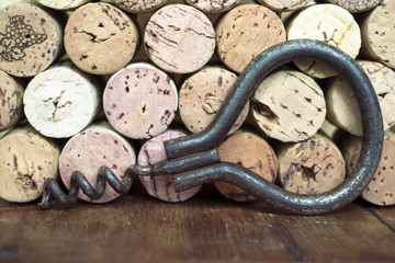 corkscrew with corks