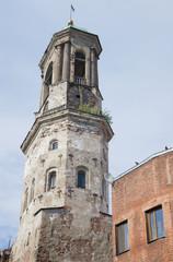 Вид на вершину Часовой башни. Старый Выборг