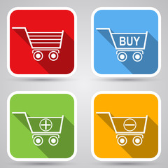 Shopping cart vector icons