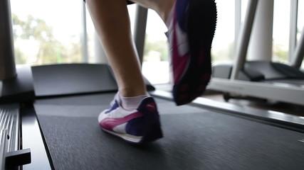 Running foot on a treadmill