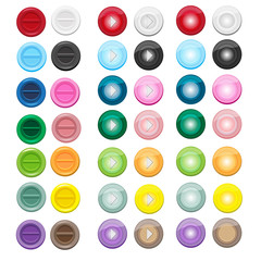 14 colors blank set of icon in circle style