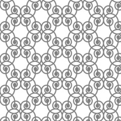 abstract lines curve tiles monochrome seamless pattern vector ba