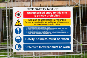 Construction Signs building site
