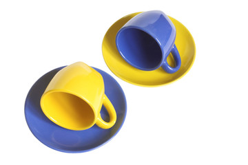 Multicolored teacups