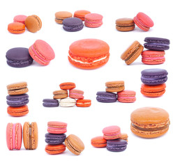 macaroons collection set of isolation