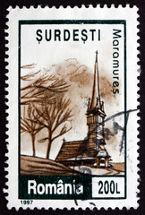 Postage stamp Romania 1997 Church, Surdesti