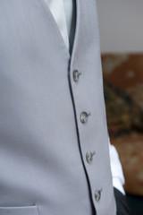 Vest an tie closeup at wedding