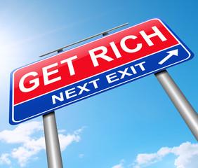 Get rich concept.