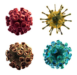 Detailed 3d illustration of Viruses isolated on white background