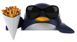 canvas print picture - Fun penguin