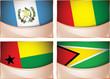 Flags illustration, Guatemala, Guinea, Guinea Bissau, Guyana