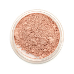 Closeup used makeup powder