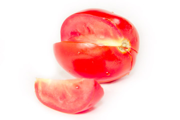 image of beautiful red ripe tomato as an element of food