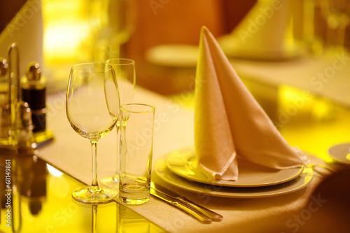 Leinwanddruck Bild Table set for an event party