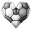Love soccer heart