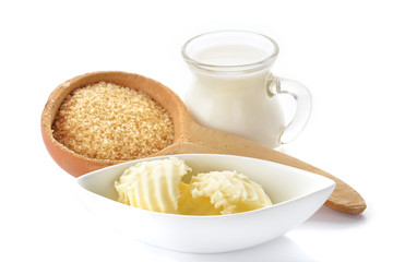 Burro zucchero di canna e latte