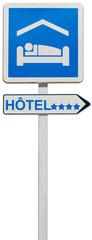 panneau enseigne direction hôtel 4 étoiles