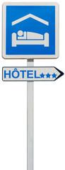 panneau enseigne direction hôtel 3 étoiles