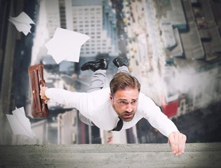 Businessman is going to fall