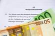 Kaufvertrag mit Euroscheinen