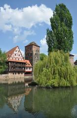 Weinstadel und Wasserturm in Nürnberg
