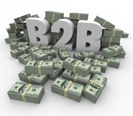 B2B Money Stacks Cash Piles Earnings Profits Business Sales
