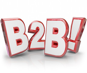 B2B Red 3D Letters Abbreviation Acronym Business Sales