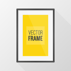 Black frame vector design with long shadow