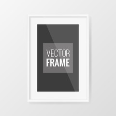 White frame vector design