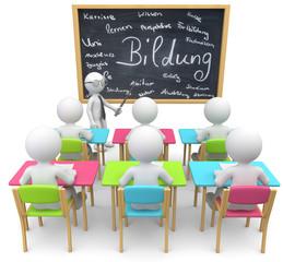 Schulraum Bildung  bunt