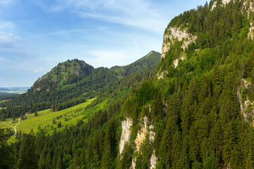Idyllic summer landscape in the Bavarian Alps, Germany