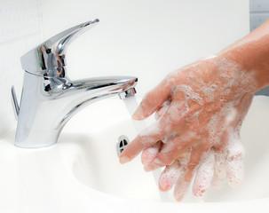 Hände waschen. Schutz vor Neuer Schweine Grippe HN