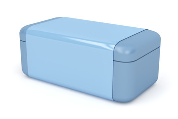 Blue plastic box