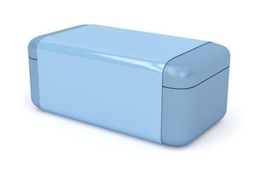 Blue plastic box